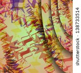 colorful zigzag background ... | Shutterstock .eps vector #138733514