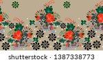 seamless floral design .floral... | Shutterstock . vector #1387338773