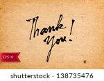 vector handwritten calligraphy... | Shutterstock .eps vector #138735476
