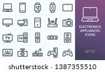 electronics and appliances... | Shutterstock .eps vector #1387355510
