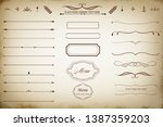 this image is a set of vintage... | Shutterstock .eps vector #1387359203