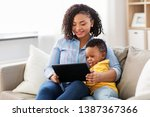 family  motherhood and... | Shutterstock . vector #1387367366
