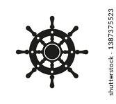 ship steering wheel icon.... | Shutterstock .eps vector #1387375523