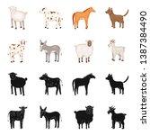 vector illustration of breeding ... | Shutterstock .eps vector #1387384490