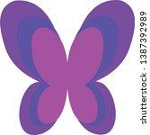 butterfly logo gradient color... | Shutterstock .eps vector #1387392989