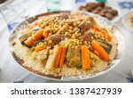 Shot Of A Couscous Plate On A...