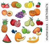 Set Of Colorful Cartoon Fruit...