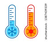 thermometers graphic icons with ... | Shutterstock .eps vector #1387439339