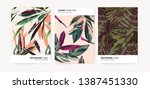 a set of templates for... | Shutterstock .eps vector #1387451330