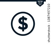 dollar icon collection in glyph ...   Shutterstock .eps vector #1387457210