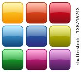 colorful square glossy buttons   Shutterstock .eps vector #138746243