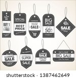 price tag retro vintage... | Shutterstock .eps vector #1387462649