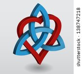 illustration of a celtic knot... | Shutterstock .eps vector #138747218