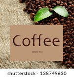 coffee beans with leaves on... | Shutterstock . vector #138749630