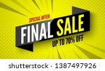 special offer final sale banner ... | Shutterstock .eps vector #1387497926