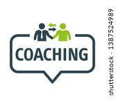 coaching and mentoring concept. ... | Shutterstock .eps vector #1387524989