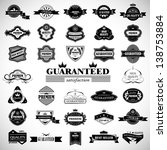 vintage design elements. labels ... | Shutterstock .eps vector #138753884