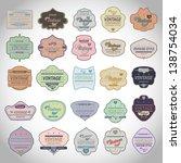 vintage design elements. labels ... | Shutterstock .eps vector #138754034