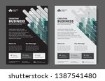 corporate business flyer poster ... | Shutterstock .eps vector #1387541480
