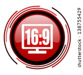 16 9 display red circle web... | Shutterstock . vector #138755429