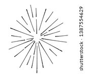 radial lines in circle form for ... | Shutterstock .eps vector #1387554629