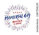 memorial day vector... | Shutterstock .eps vector #1387558139