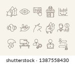 stock market line icon set.... | Shutterstock .eps vector #1387558430