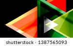 triangle abstract vector... | Shutterstock .eps vector #1387565093