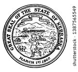 the great seal of the state of... | Shutterstock .eps vector #1387565549
