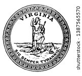 the seal of virginia   this... | Shutterstock .eps vector #1387565570