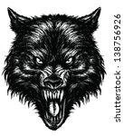 hand drawn wolf linework vector | Shutterstock .eps vector #138756926