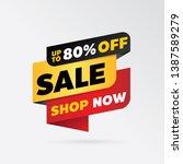 vector sale banner template... | Shutterstock .eps vector #1387589279