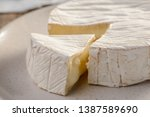 Close Up On A Camembert Cheese. ...