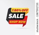 vector sale banner template... | Shutterstock .eps vector #1387592720