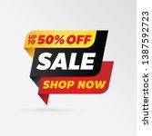 vector sale banner template... | Shutterstock .eps vector #1387592723