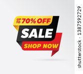 vector sale banner template... | Shutterstock .eps vector #1387592729