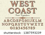 font alphabet script typeface... | Shutterstock .eps vector #1387593239