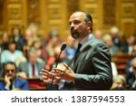 Small photo of PARIS, FRANCE - APRIL 30, 2019 : French Prime Minister Edouard Philippe Speaks at the French Senate for the weekly Questions for the Government by French Senators