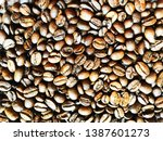 brown coffee beans. colorful... | Shutterstock . vector #1387601273