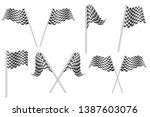 race flags vector illustration... | Shutterstock .eps vector #1387603076