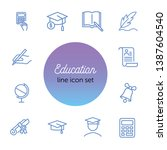 education line icon set. set of ... | Shutterstock .eps vector #1387604540