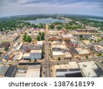 Aerial View of Downtown Warsaw, Indiana