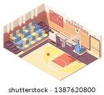 vector isometric school ... | Shutterstock .eps vector #1387620800