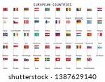 europe flags vector... | Shutterstock .eps vector #1387629140