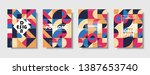 set of retro covers. collection ... | Shutterstock .eps vector #1387653740