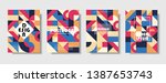 set of retro covers. collection ... | Shutterstock .eps vector #1387653743