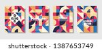 set of retro covers. collection ... | Shutterstock .eps vector #1387653749