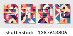 set of retro covers. collection ... | Shutterstock .eps vector #1387653806