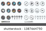game ui   vector set of buttons ...