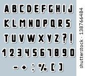 paper alphabet   Shutterstock .eps vector #138766484